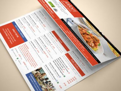 Jalori Indian - Takeaway Menu | Zorb Designs - Milton Keynes, UK