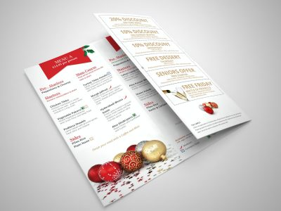 Jalori Christmas Takeaway Menu 2 | Zorb Designs - Milton Keynes, UK